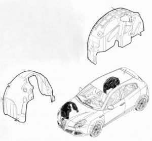 Inside fender (front right) Alfa Romeo Giulietta (940) 50513414