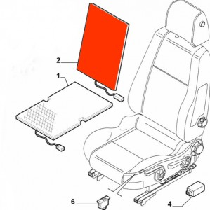 Heat mat / element (backrest) seat heating Alfa Romeo 159, Brera, Spider (939) without leather!
