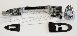 Door handle outside, left side (LHD) matt chrome Alfa Romeo MiTo, Giulietta