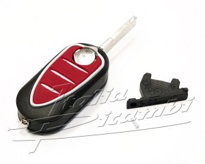 Key head housing with key blank Alfa Romeo MiTo, Giulietta