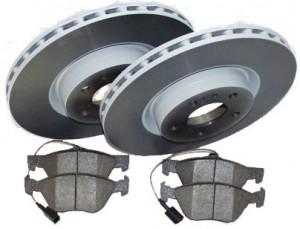 Brake pads/discs set front axle Brembo / Alfa for Alfa 159 2,2 JTS