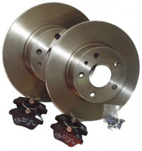 Brake disk record completeley for the rear axle