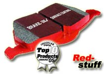 Brake Pads set (RA) EBC-Redstuff Alfa Romeo 147, GT, 156, 156 SW,  for 276mm