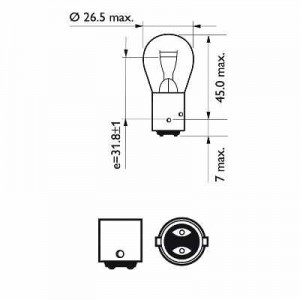 Bulb P21/4W Brake / Tail light
