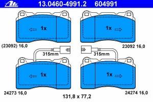 Brake Pads ATE Alfa GT Coupe (937) 3.2 V6 24V GTA