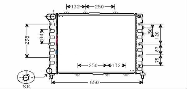cooler  radiator alfa romeo 147  156  gt coupe - 3