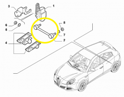 Connecting rod Sensor rear Headlights Alfa Romeo Giulietta - 50517156